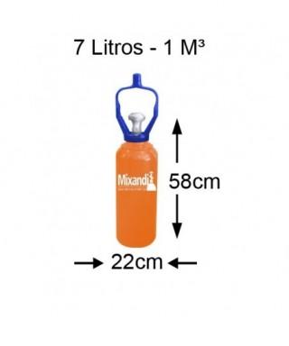Cilindro de hélio 7 L (1...